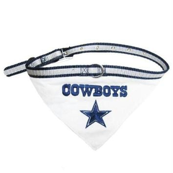 ESB7N7 Dallas Cowboys Dog Collar Bandana
