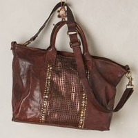 Campomaggi Ravello Leather Tote Chocolate One Size Bags