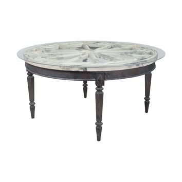 Artifacts Round Dining Table Vintage Bouleau Blanc,Heritage Grey Stain