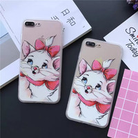 A lovely cat with a bow for iPhone 5 5s SE 6 6s 6plus 6splus 7 7plus 1018J01