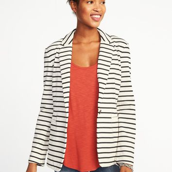 Classic Striped Knit Blazer for Women | Old Navy