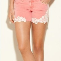 GUESS Josie Shorts with Crochet Detail $79.00