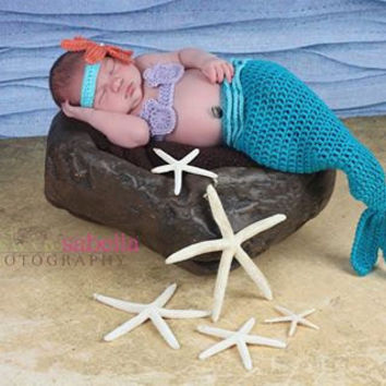 Mermaid Costume, Photography Prop, 0 to 3 Months