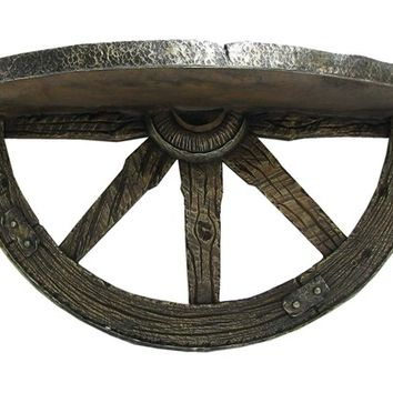 Brown Hanging Wagon Wheel Shelf | Shop Hobby Lobby