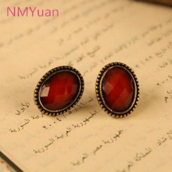 Hot Fashion Retro Sexy Leopard Small Oval Earrings Jewelry Wholesale Manufacturers