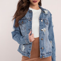 Gower Distressed Denim Jacket