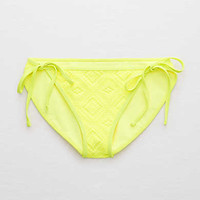 Aerie Bikini Bottom + Crochet , Lemon Lime Infusion