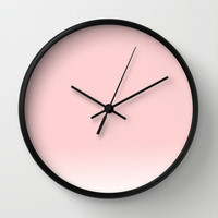 Pastel Pink Ombre Wall Clock by siobhaniaa