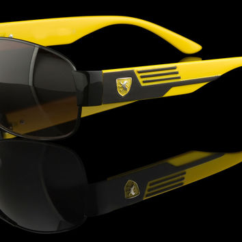 "Luxury Mens Rectangular Exotic Inspired Sunglasses ""Stradale"""