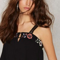Somedays Lovin Wide Eyes Embroidered Crop Top