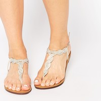 New Look Embellished Twist Flat Sandals