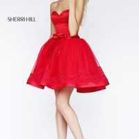 Strapless Cocktail Dress by Sherri Hill