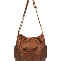 Slouchy Faux Leather Tote Bag | Wet Seal