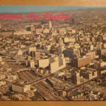Vintage Downtown Los Angeles California Postcard