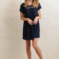 Hallie Crochet Accent Dress