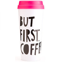 """But First Coffee"" Thermal Mug - PRE ORDER 