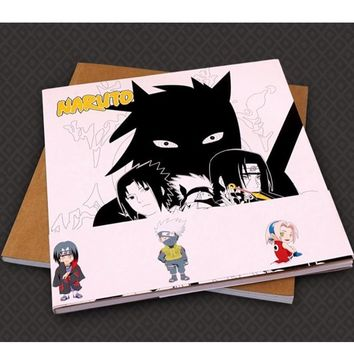 Naruto Sasauke ninja Creative Fashion!  antistress Colouring Book for adults children Relieve Stress Painting Drawing anime coloring book gifts AT_81_8