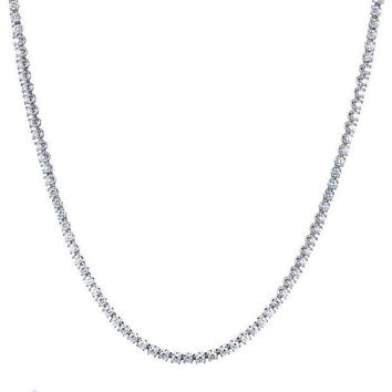 DCCKG2C Bulgari White Gold Diamond Tennis Necklac