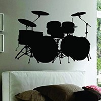 Dabbledown Decals Wall Mural Music Drums Drummer Band Drumstick Percussion Sticker