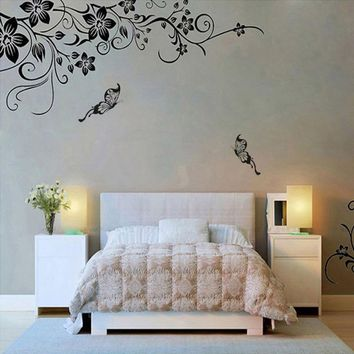 Fashion stickers on the wall 3d sticker Hee Grand Removable Vinyl Wall Sticker Mural Decal Art - Flowers and Vine behang