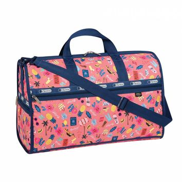 Large Weekender Tropical Voyage Print by LeSportsac | Imported