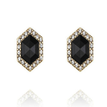 Chloe + Isabel Atlas Hexagon Stud Earrings