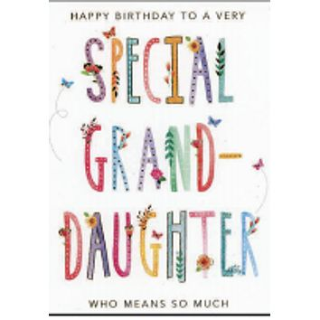 Happy Birthday  (granddaughter)