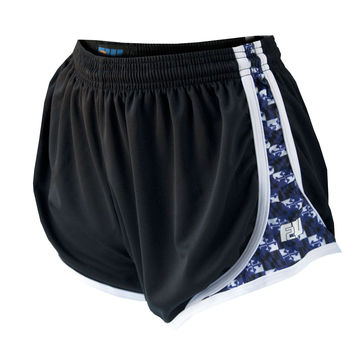 Womens Maryland Balt. Football color Flag Split Shorts-black