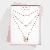 SUGARFIX by BaubleBar™ Delicate Layered Necklace Gift Set - Gold