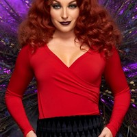 Pinup Couture Gia Top in Red
