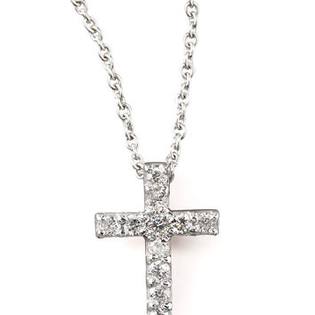 Pave Diamond Cross Necklace - Roberto Coin