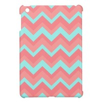 light pink blue Chevron Pattern iPad Mini Cases from Zazzle.com
