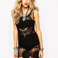 Rat & Boa Crochet Lace Up Shoulder Dress