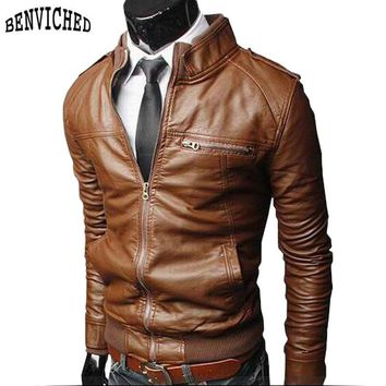 Men's PU Leather Jackets high quality Outdoor