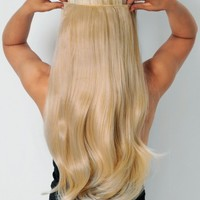 613/16 California Blonde Straight Synthetic Instant Full Head Clip In Hair Extensions | Pink Boutique