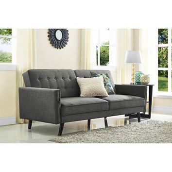Better Homes and Gardens Rowan Linen Futon, Grey - Walmart.com
