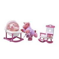Only Hearts Club so Small Pets Rocking Chair and Cradle Set - Rock-a-bye Piggy