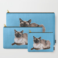 Siamese cat Carry-All Pouch by savousepate