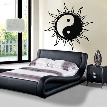 Sun Wall Decals Yin Yang Sign Stickers Bedroom Art Mural Home Decor Room LM220