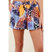 Remain Palm Purple Print Shorts