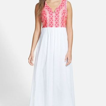 Women's Vineyard Vines Embroidered Maxi Dress,