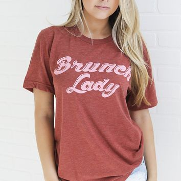friday + saturday: brunch lady t shirt