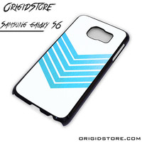 Chevron White Blue Case For Samsung Galaxy S6 Case