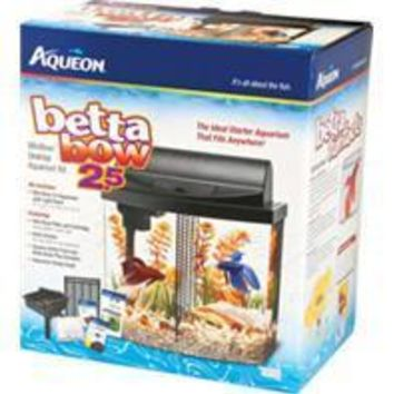 Aqueon Products - Glass - Led Betta Bow Desktop Aquarium Kit