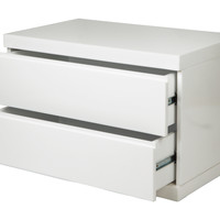 Anna Night Stand Large White