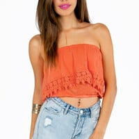 Edgy Crochet Crop Top $25