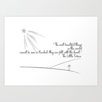 The Little Prince Art Print by Irmak Berktas