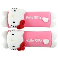 Hello Kitty Seat Belt Cover Set (Pink)