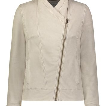 Helene Suede French Terry Jacket