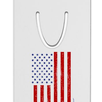 Red and Blue Stamp Style American Flag - Distressed Aluminum Paper Clip Bookmark by TooLoud